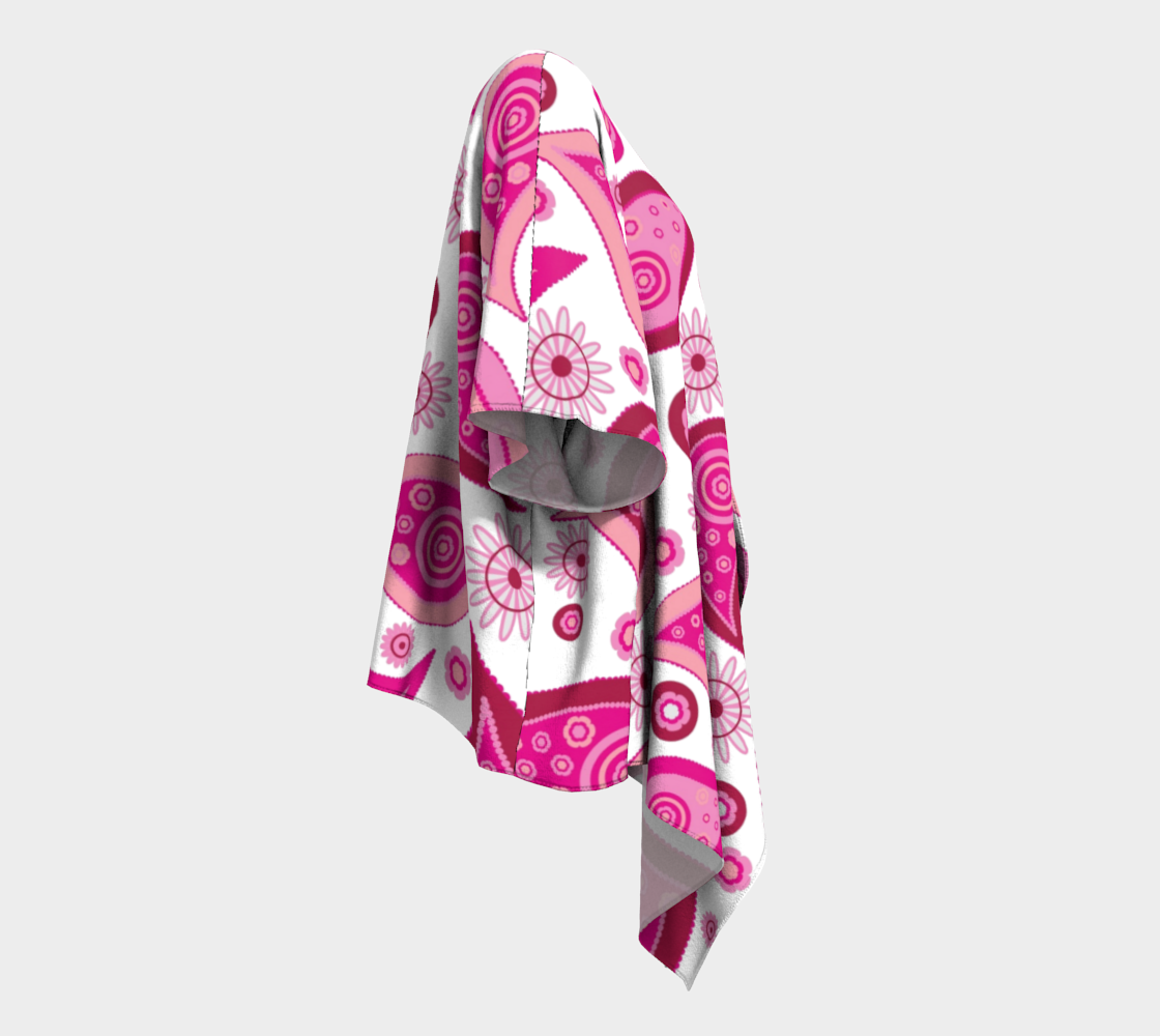 pink paisley draped kimono preview #3