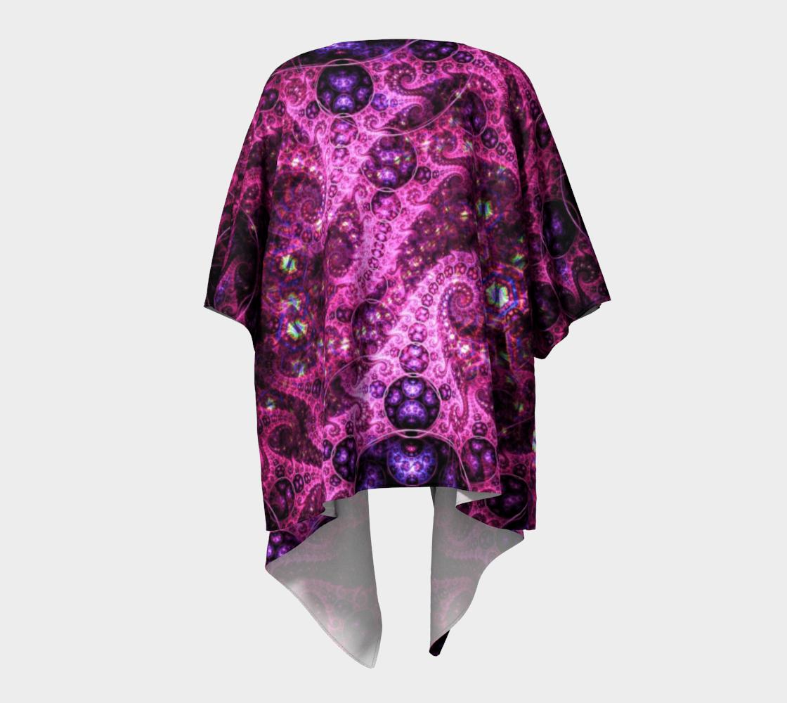 pink fractal draped kimono preview #4