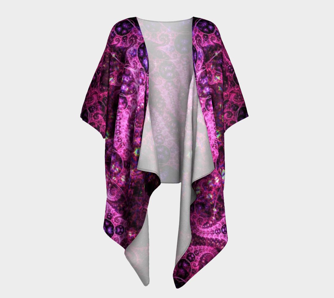 pink fractal draped kimono preview #1