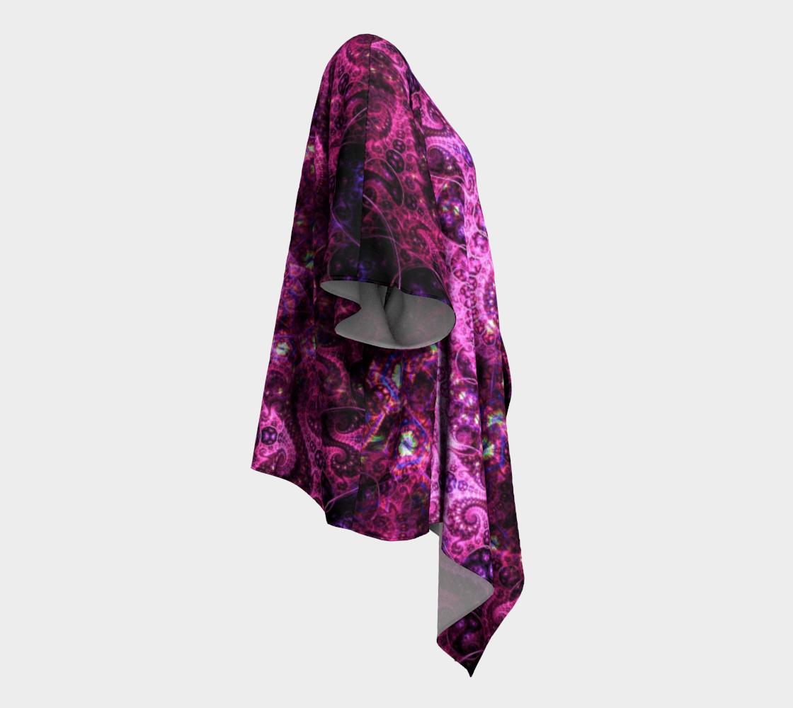 pink fractal draped kimono preview #3