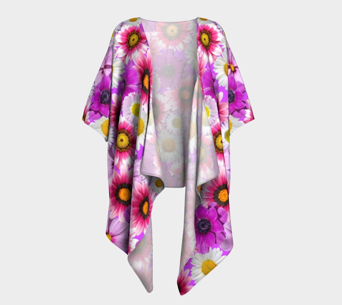 pink flowers draped kimono preview