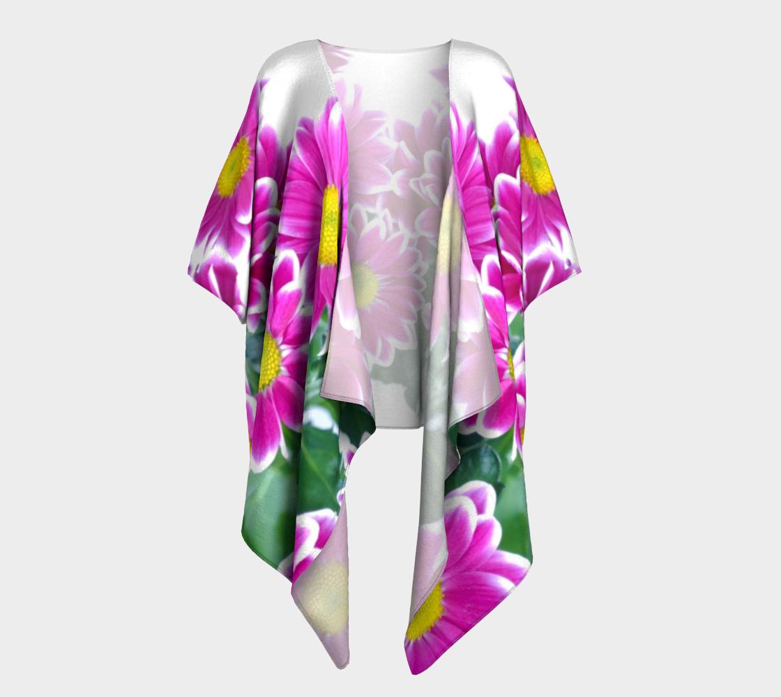 pink white flowers draped kimono preview