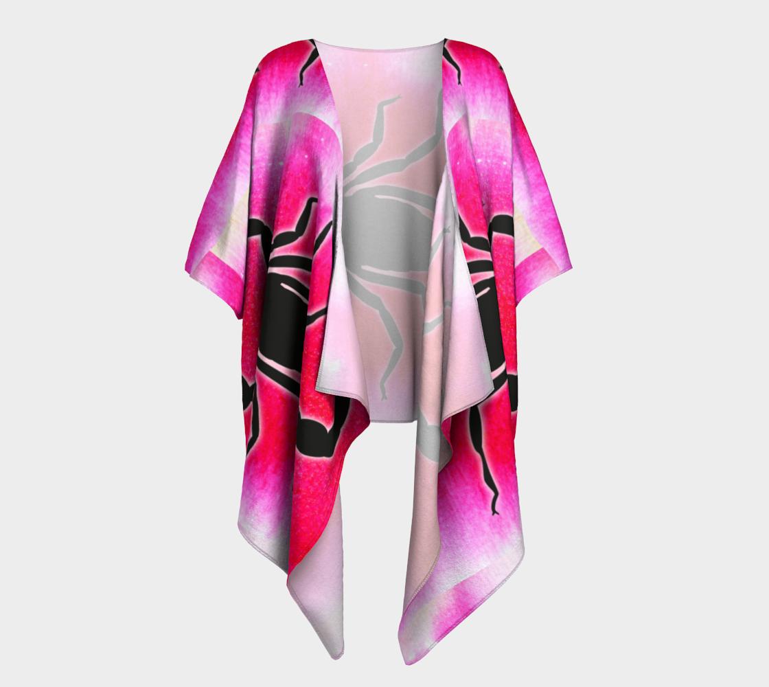 scorpion on pink draped kimono preview