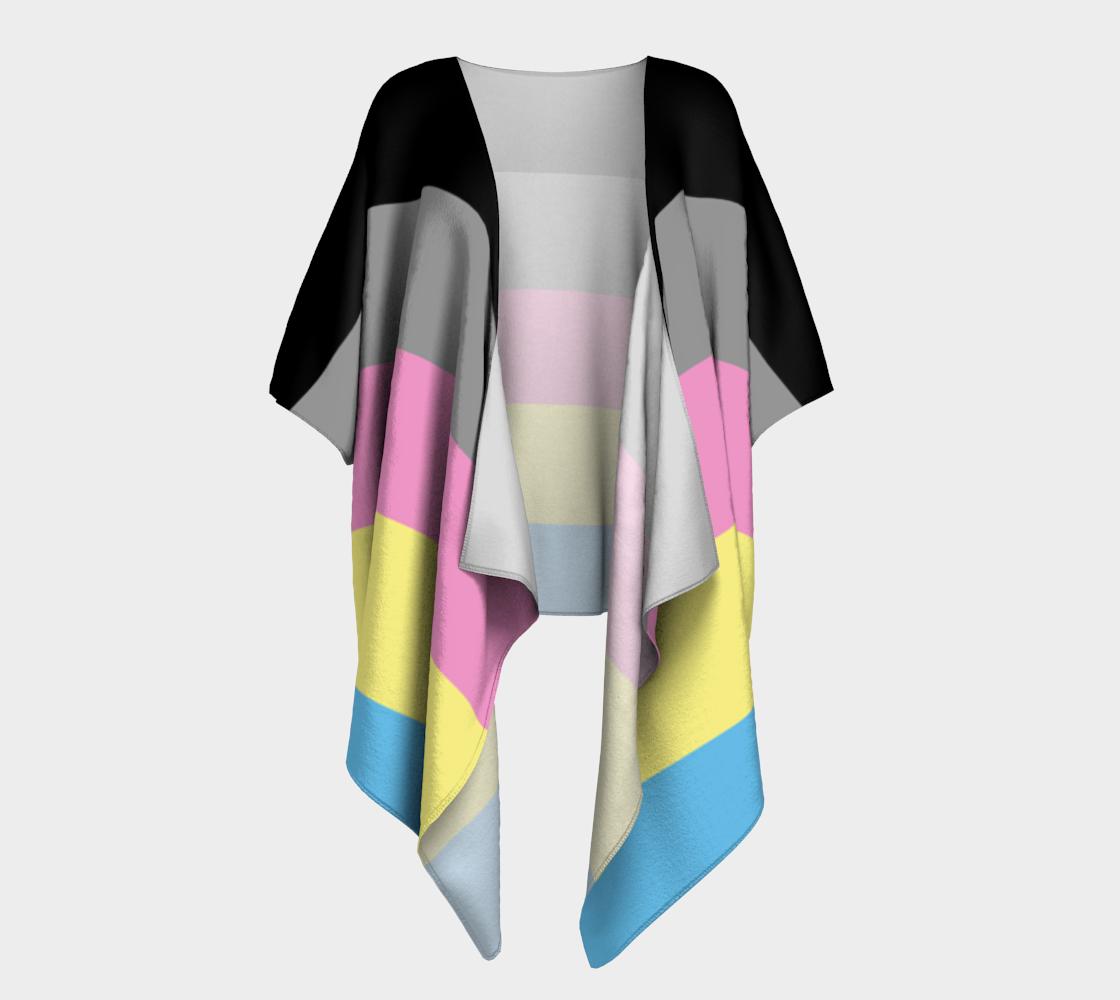 polygender LGBTQ+ pride draped kimono preview