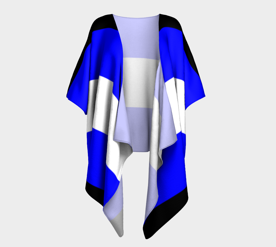 pseudo draped kimono preview