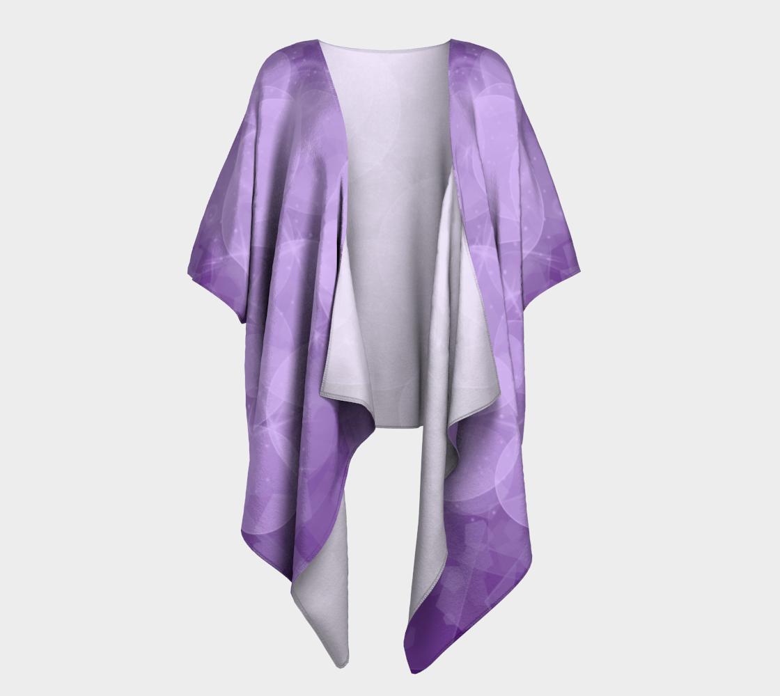 purple bubbles draped kimono preview