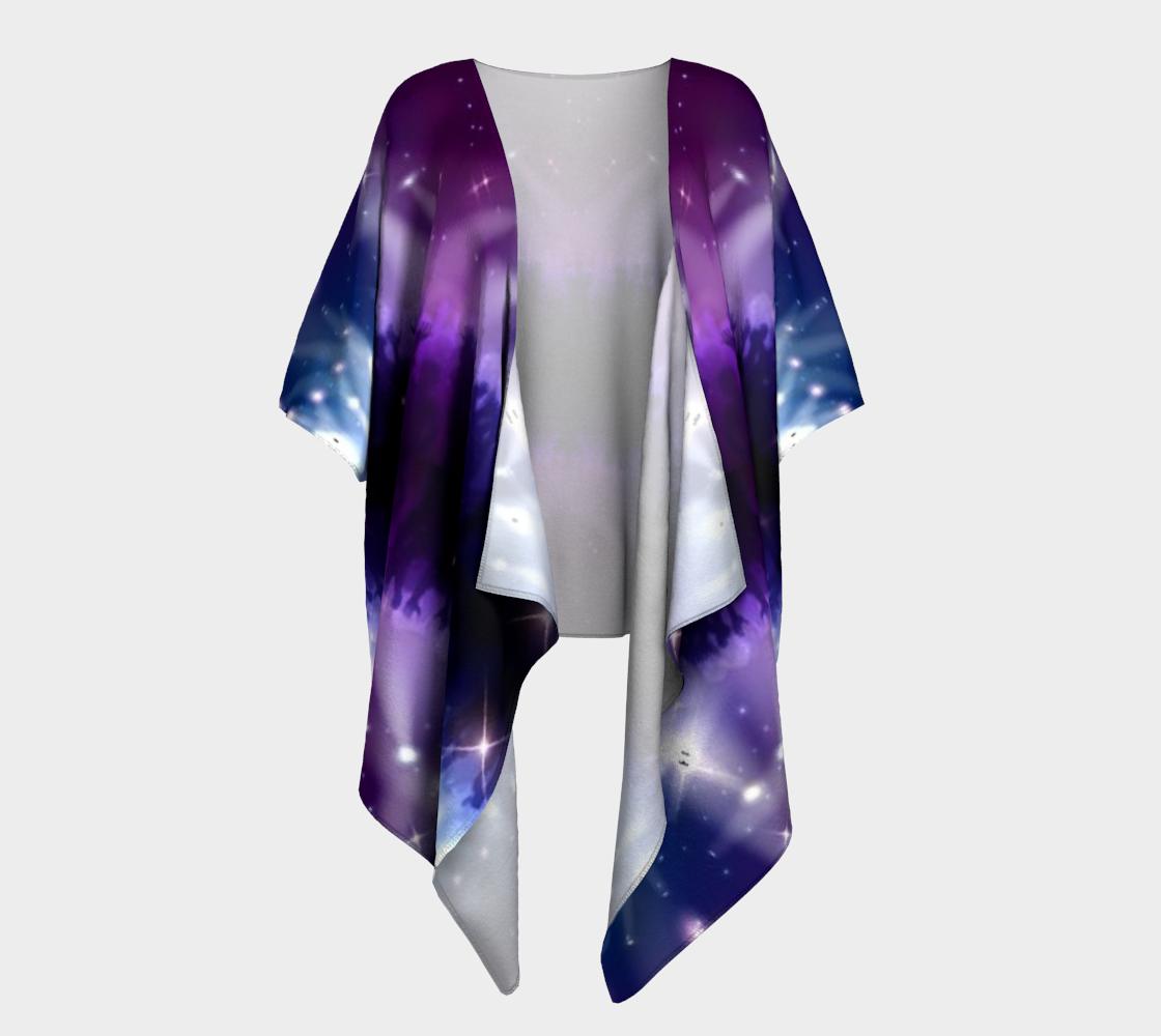 purple hands up draped kimono preview