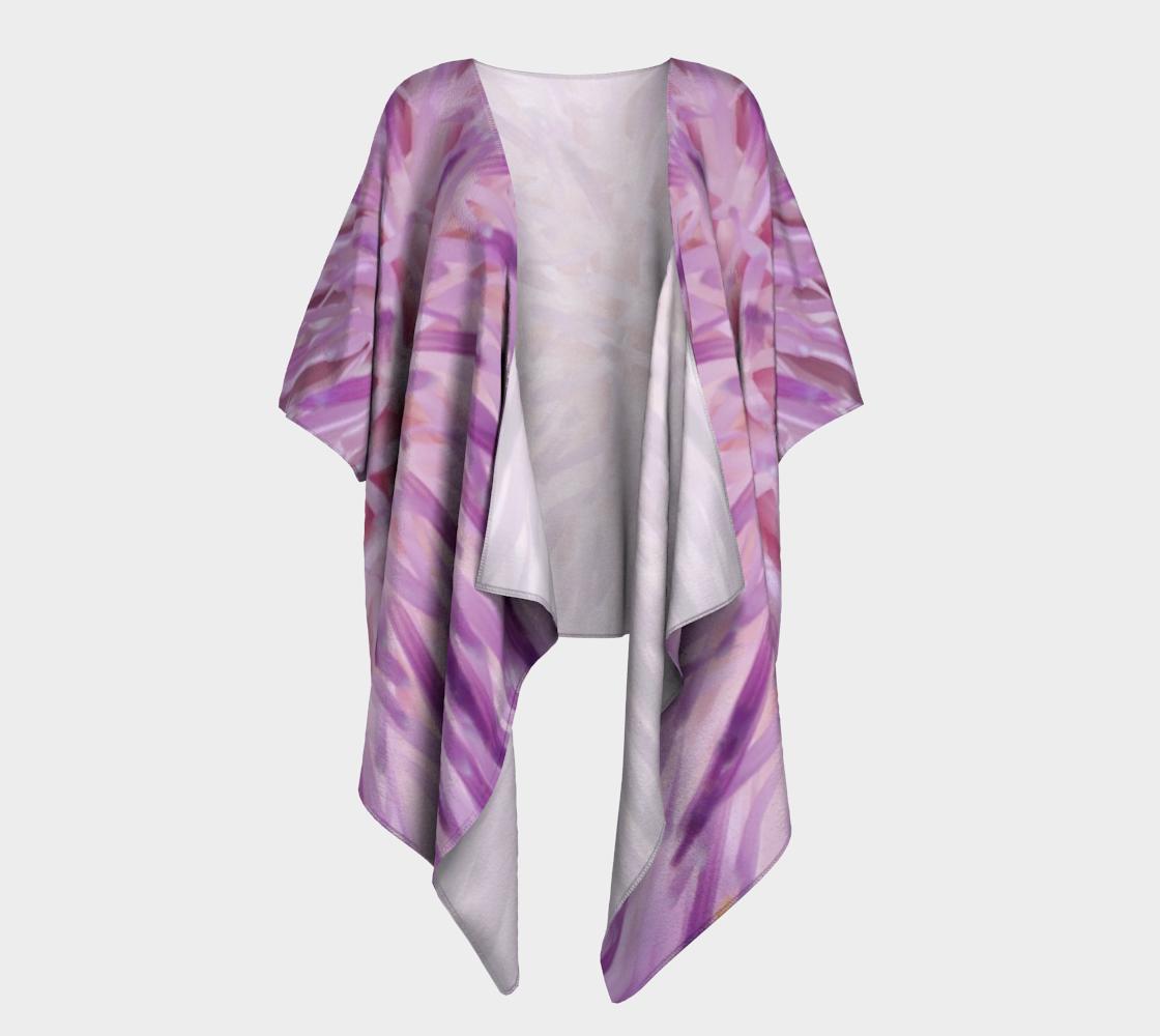 purple flower burst draped kimono preview