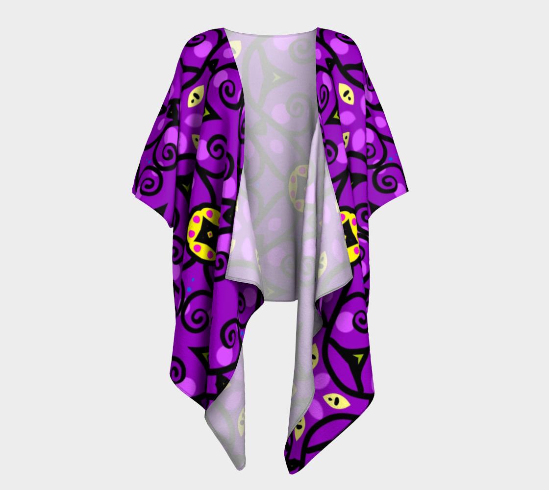 purple and gold draped kimono preview