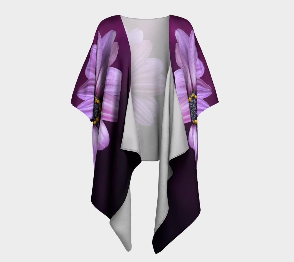 purple flower draped kimono preview