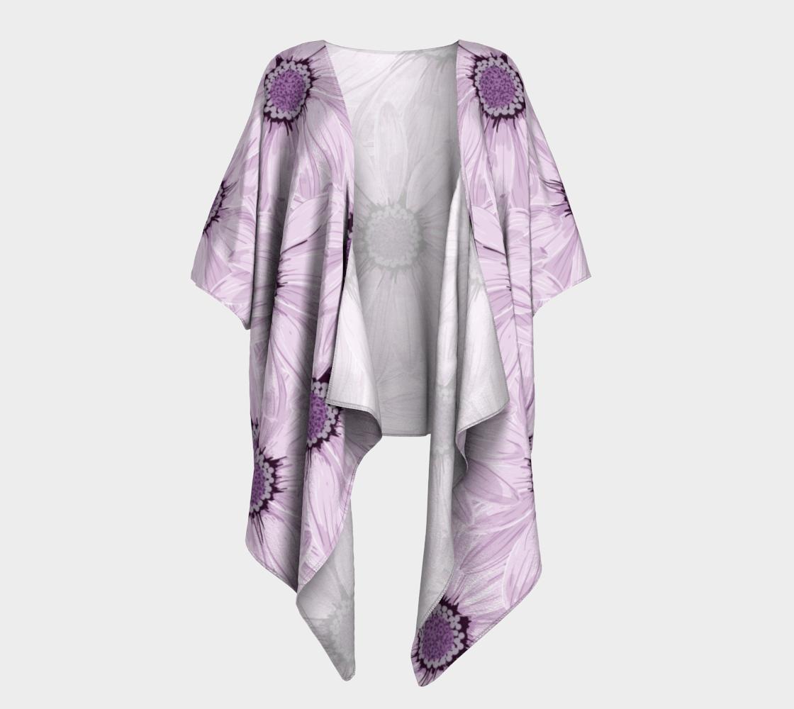 purple flower second draped kimono preview