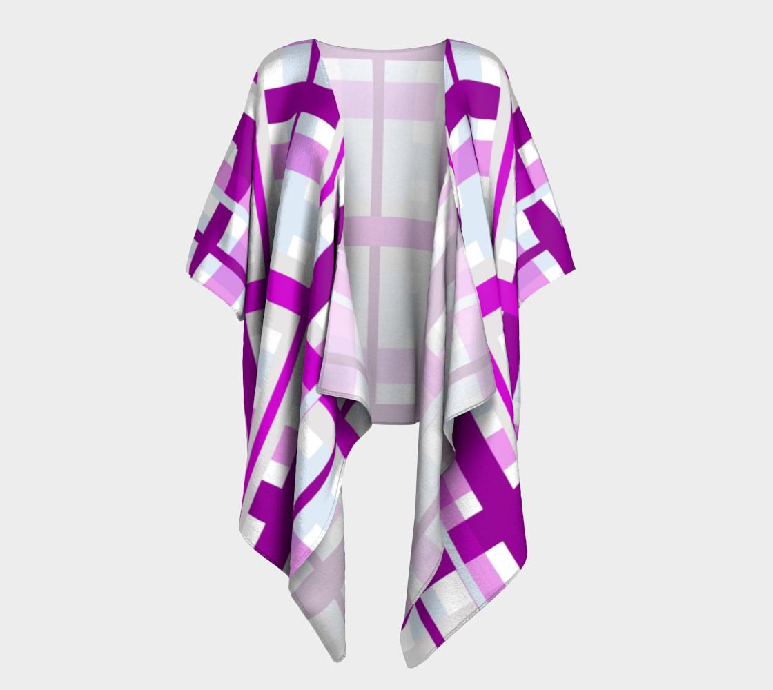 purple gingham draped kimono preview