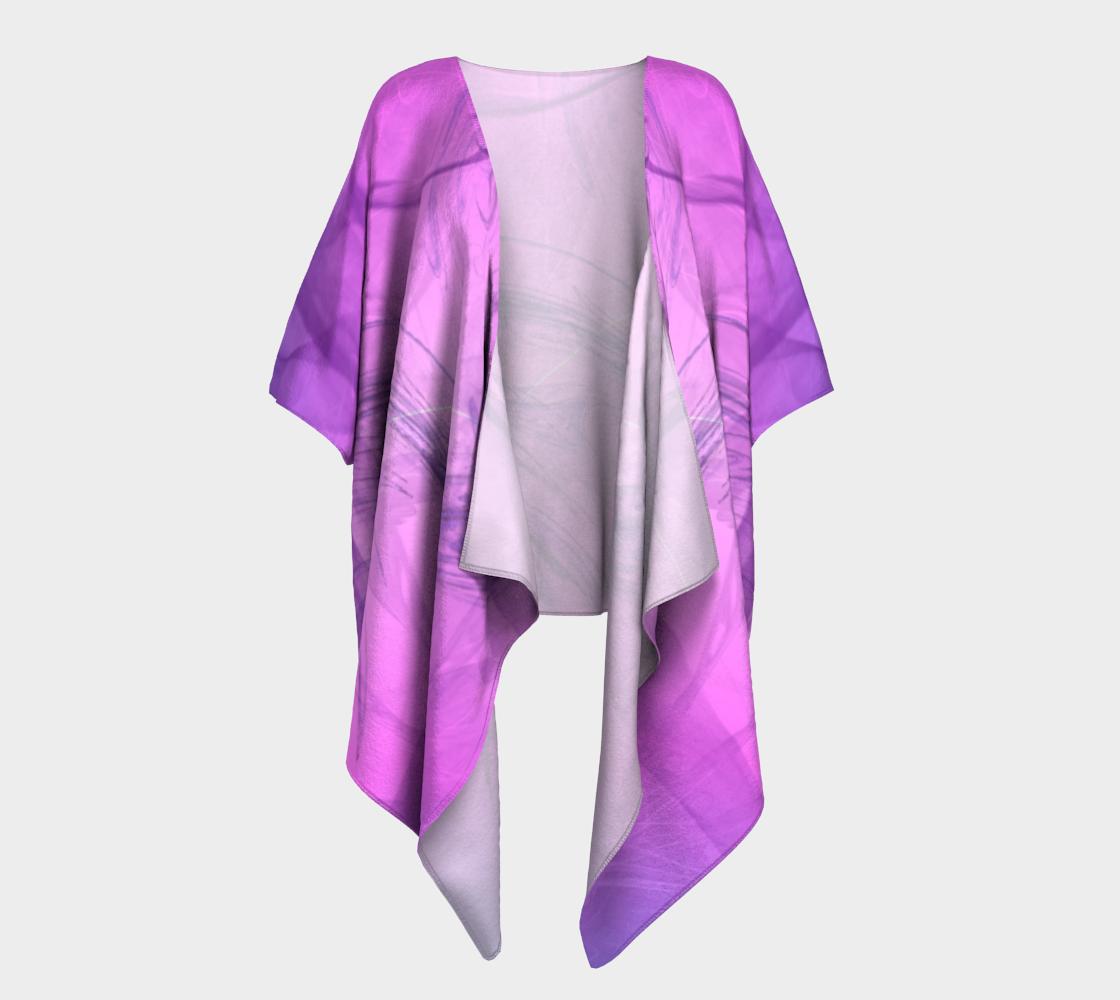purple smoke draped kimono preview