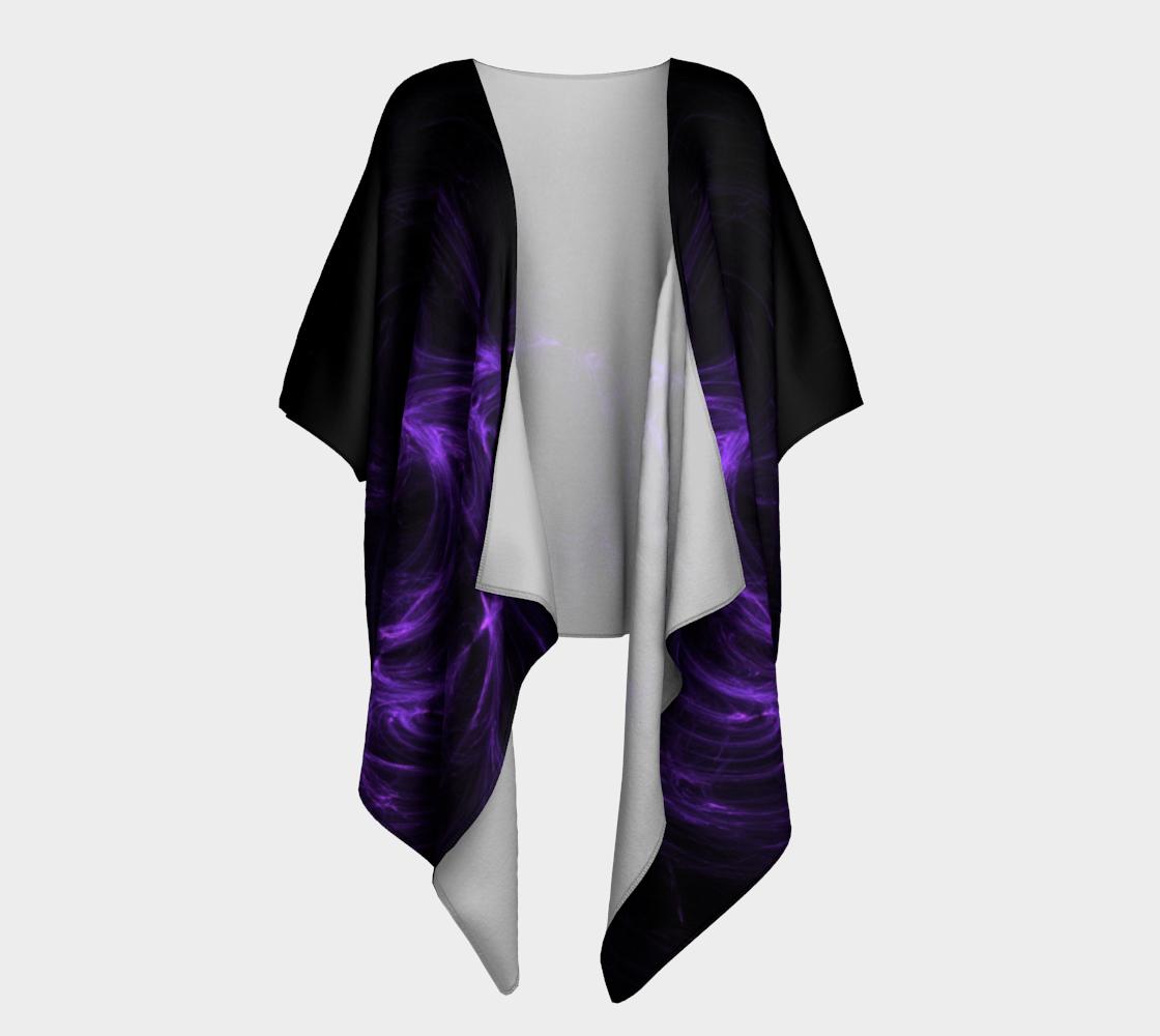 purple fractal draped kimono preview