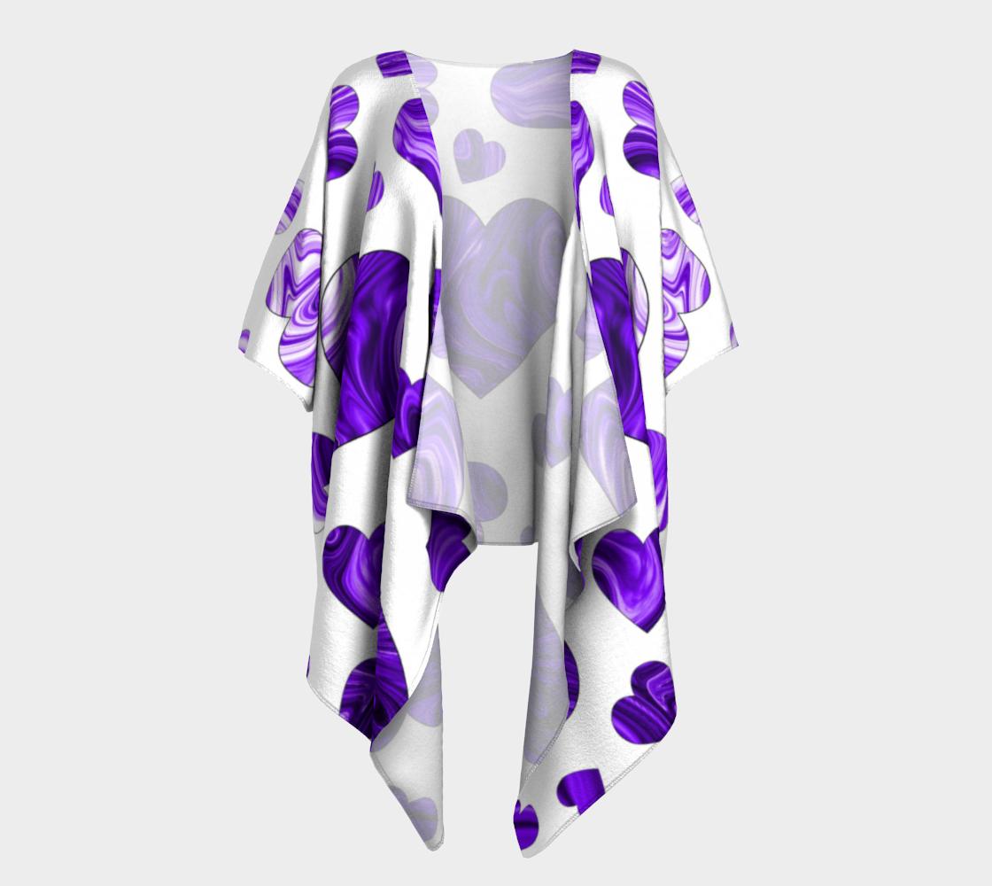 purple love valentine hearts draped kimono preview
