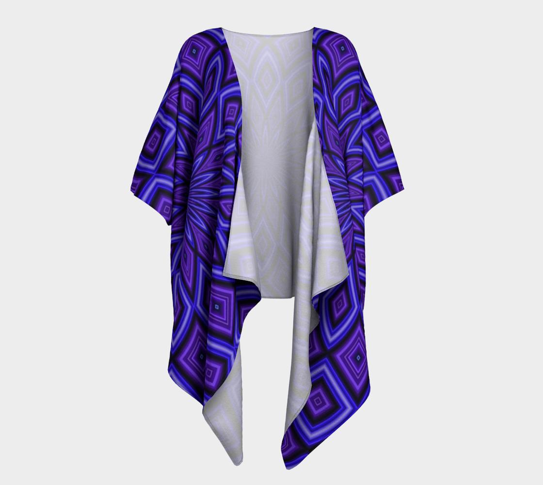purple kaleidoscope draped kimono preview
