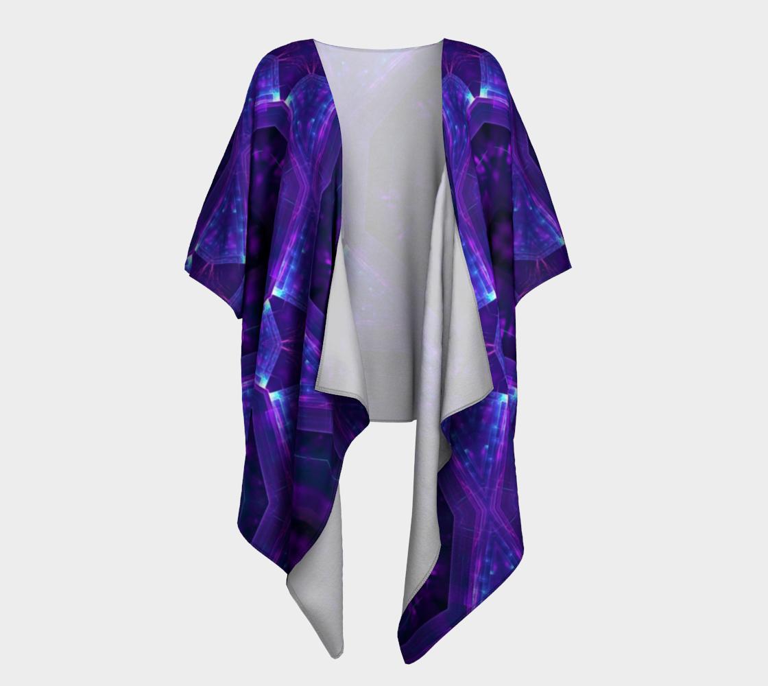 purple hex draped kimono preview