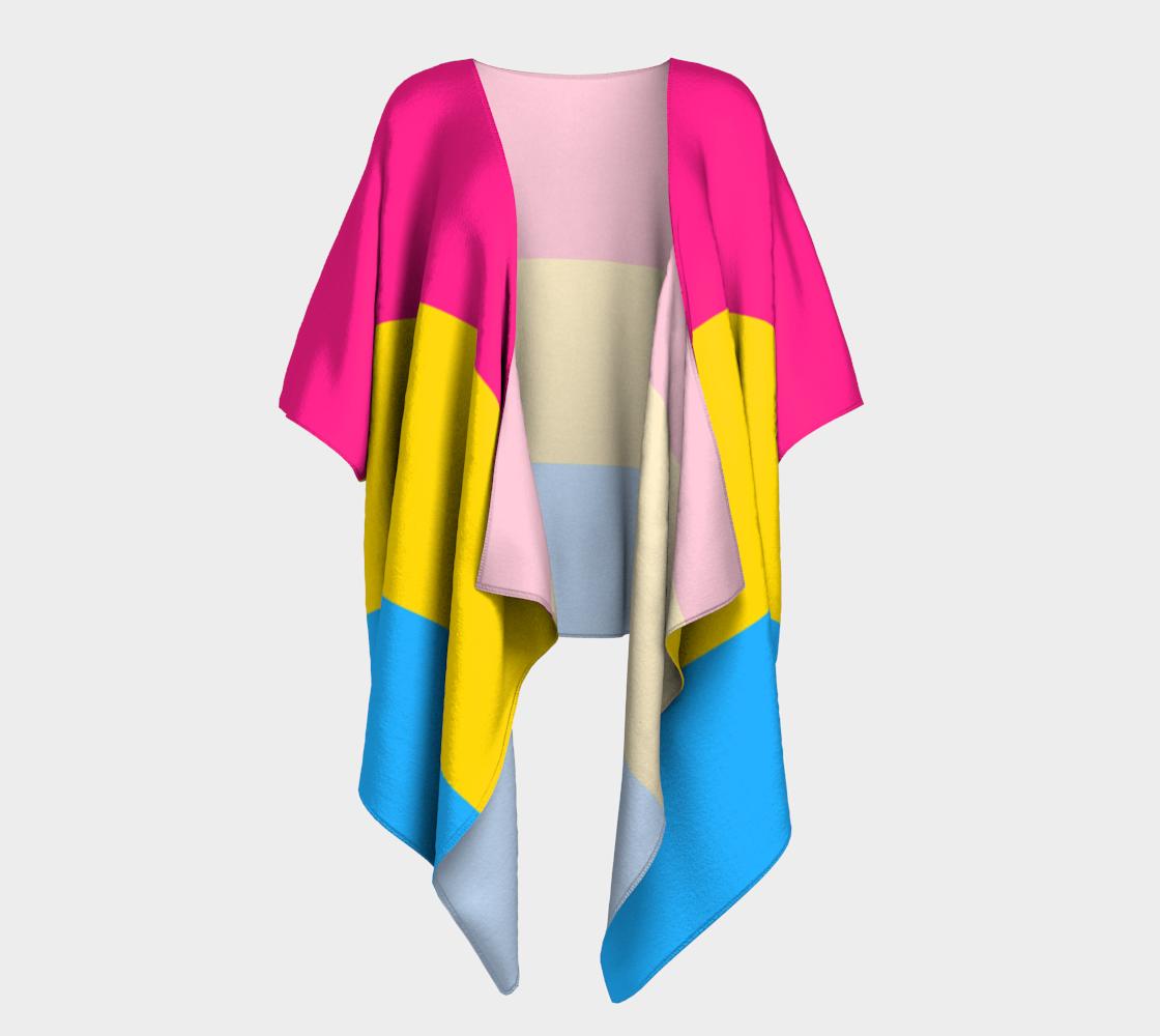 Pansexual LGBTQ+ Pride flag draped kimono preview
