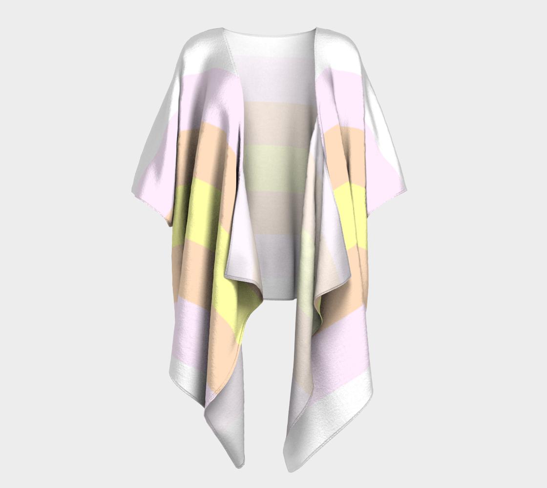 pangender LGBTQ+ pride flag draped kimono preview