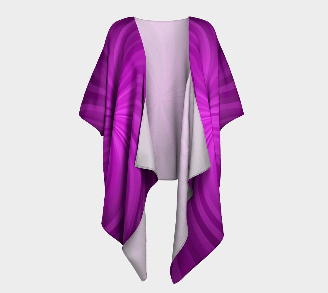 purple spiral draped kimono preview
