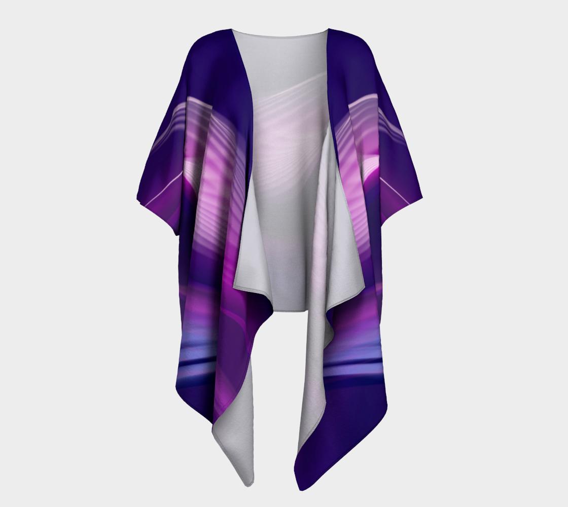 purple waves draped kimono preview