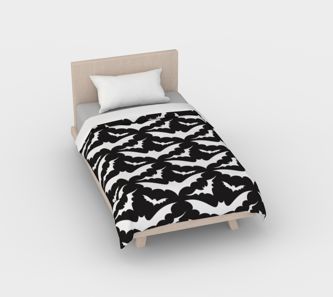 Black Bats Duvet Cover preview