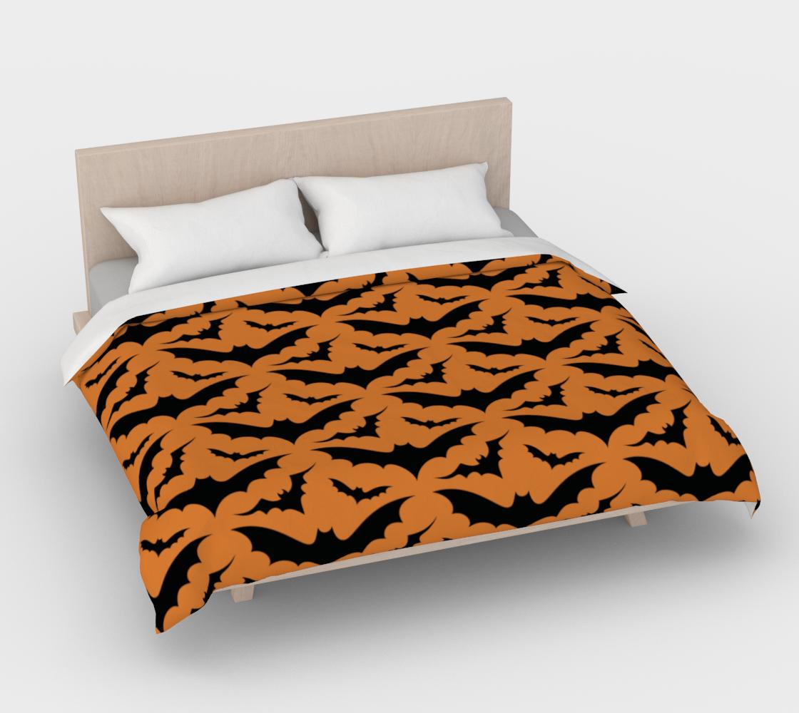 Orange Bats Duvet Cover preview #4