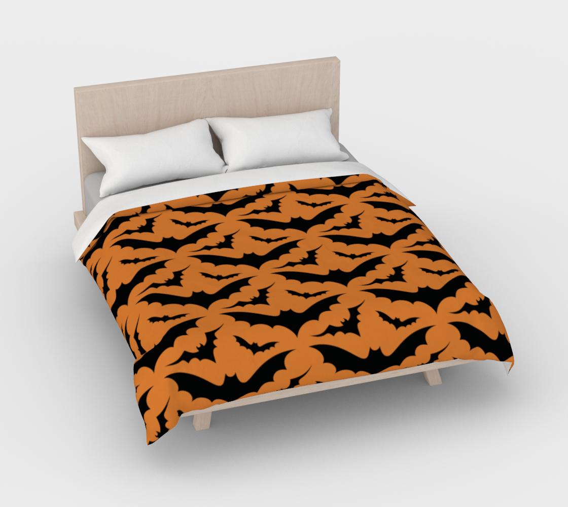 Orange Bats Duvet Cover preview #3