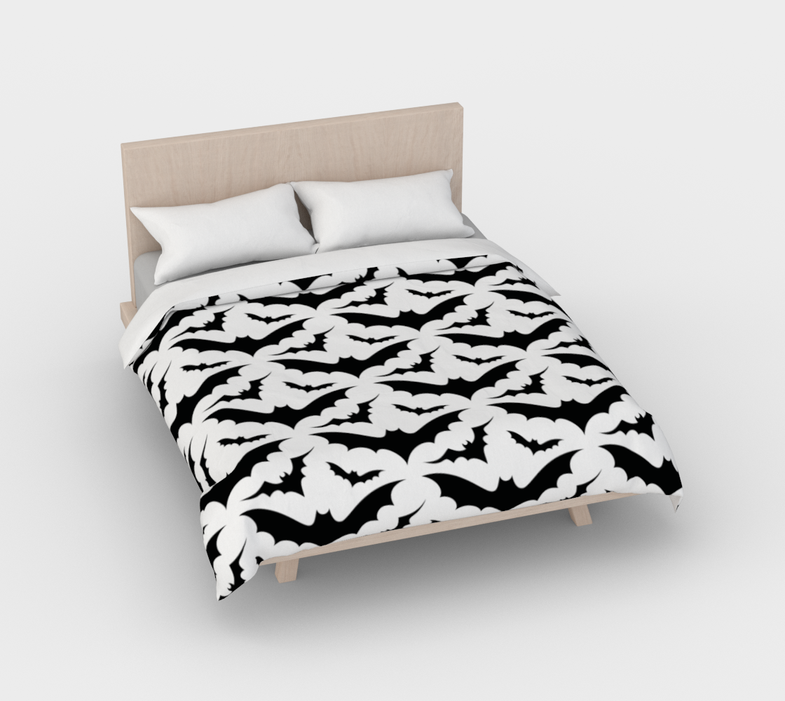 White Bats Duvet Cover preview #2