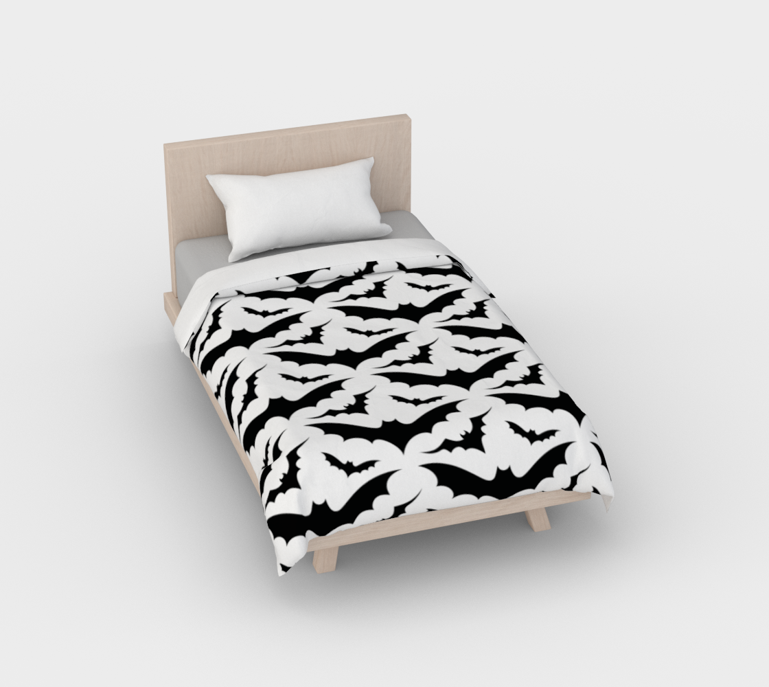 White Bats Duvet Cover preview
