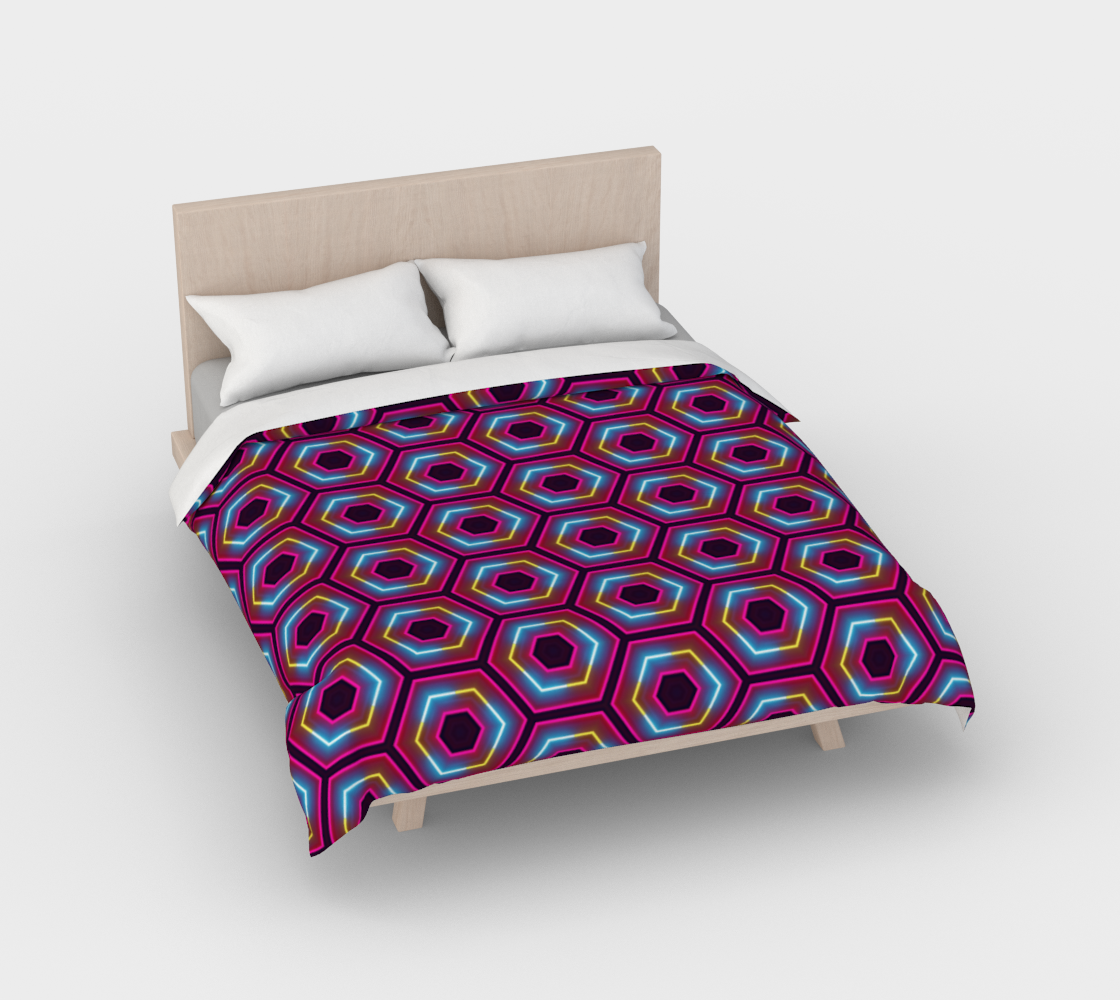 Synthwave Hexagon Pattern preview #2