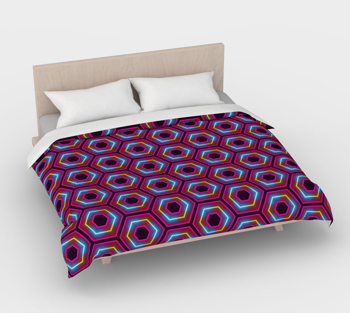 Synthwave Hexagon Pattern preview #4