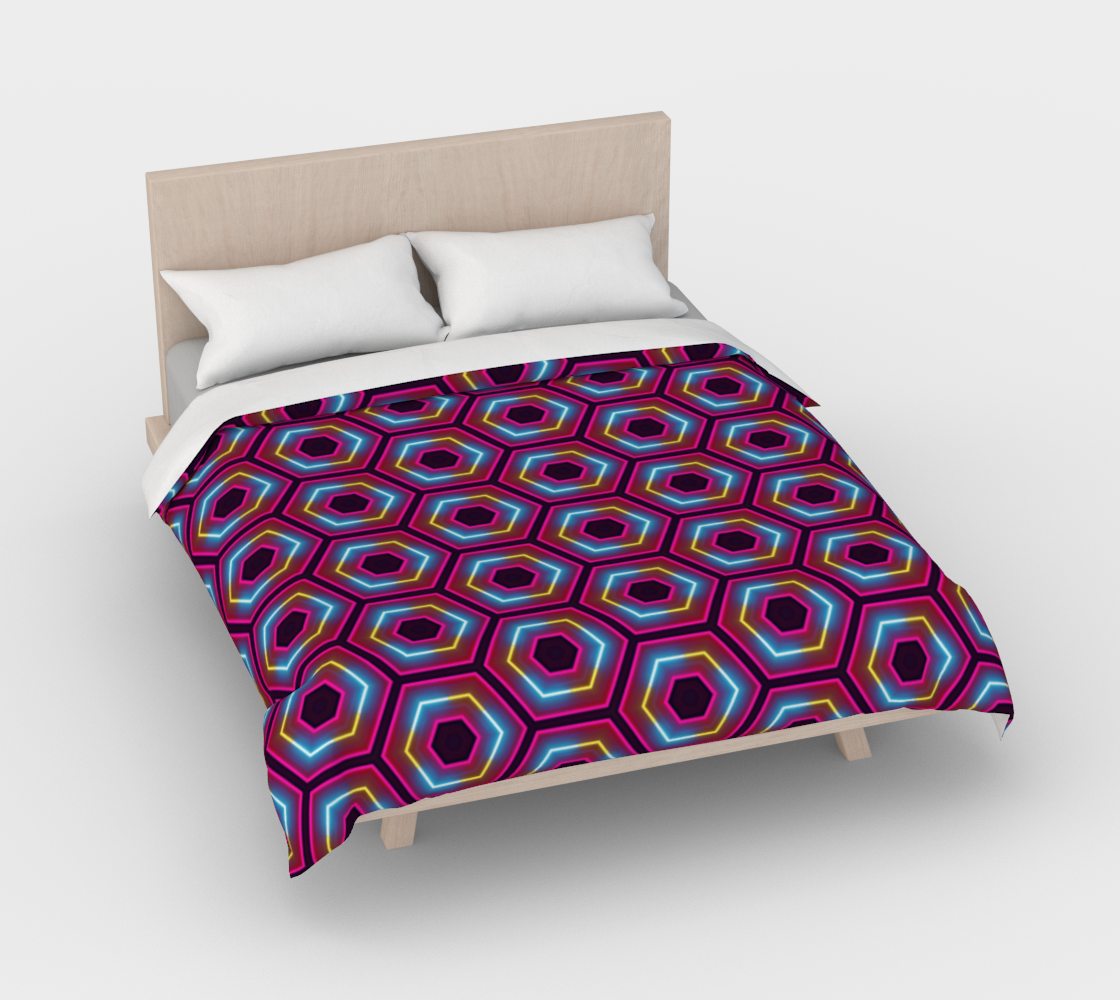 Synthwave Hexagon Pattern preview #3
