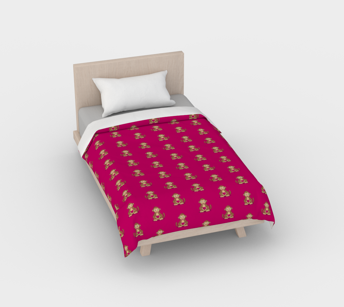 Monkey love pattern Duvet Cover preview