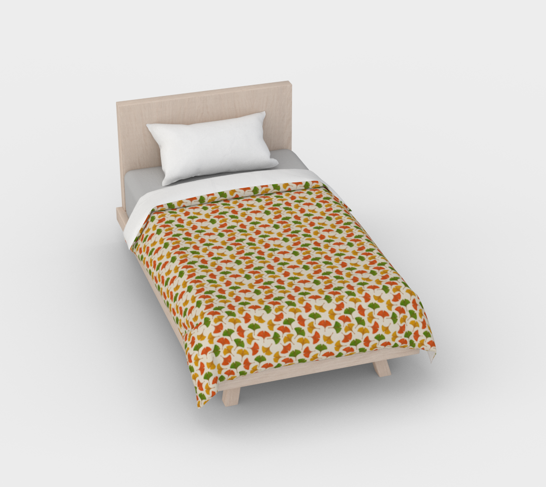 Fall ginkgo biloba leaves pattern Duvet Cover preview