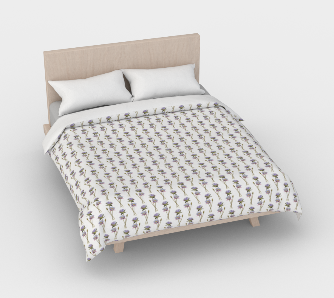 Aperçu de Lotus flowers pattern Duvet Cover #3