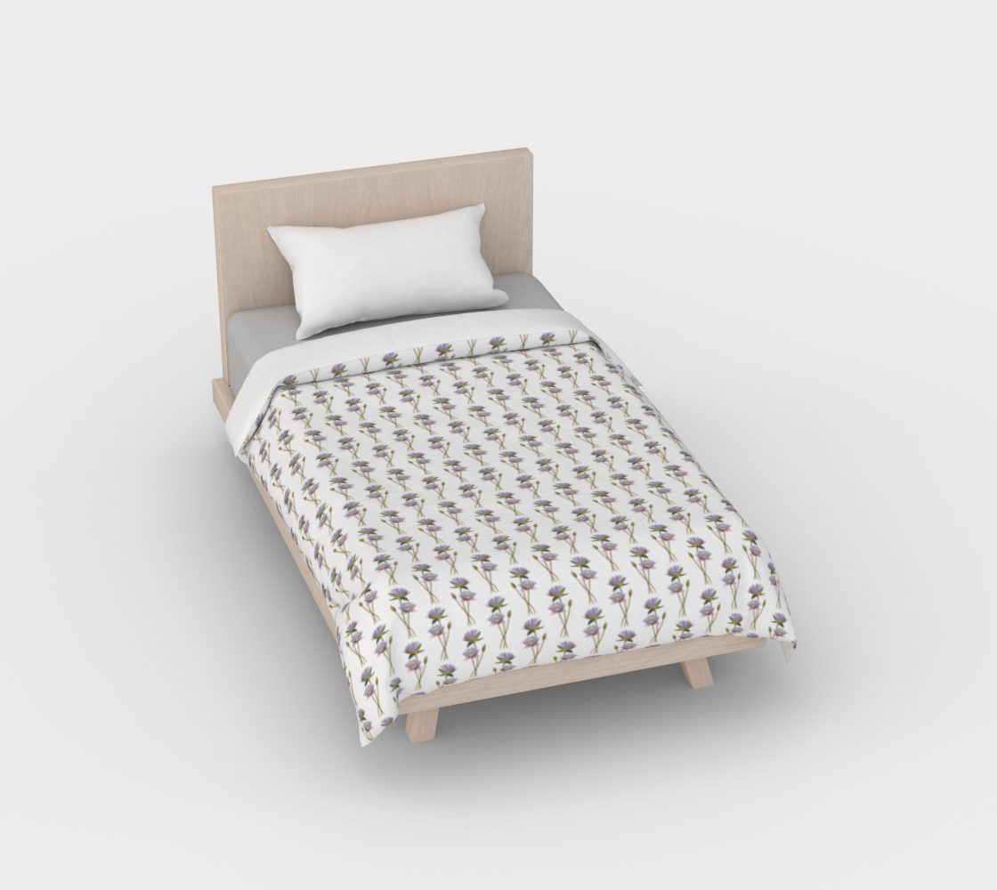 Lotus flowers pattern Duvet Cover preview