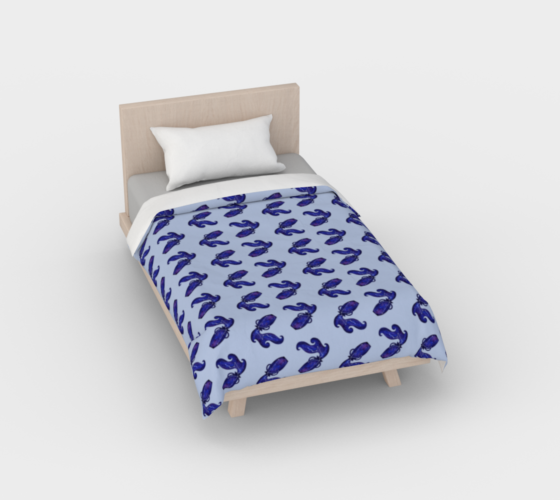 Astrological sign Aquarius constellation pattern Duvet Cover preview