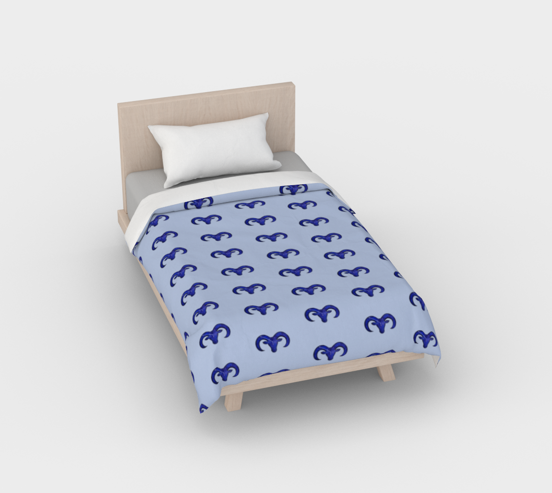 Astrological sign Aries constellation pattern Duvet Cover preview