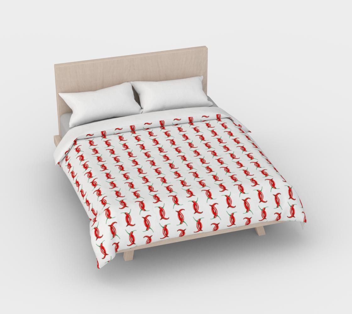 Aperçu de Hot peppers pattern Duvet Cover #2
