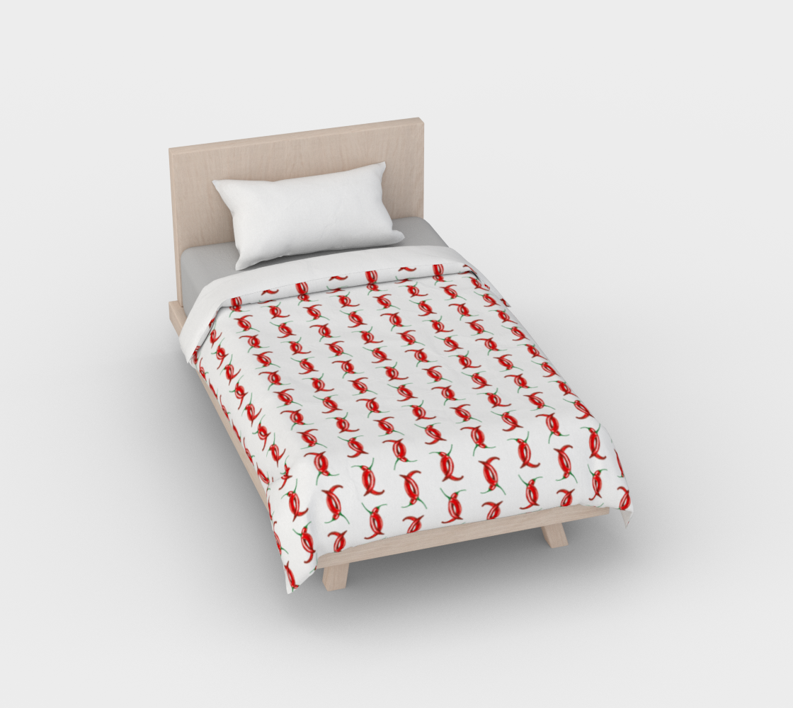 Hot peppers pattern Duvet Cover preview