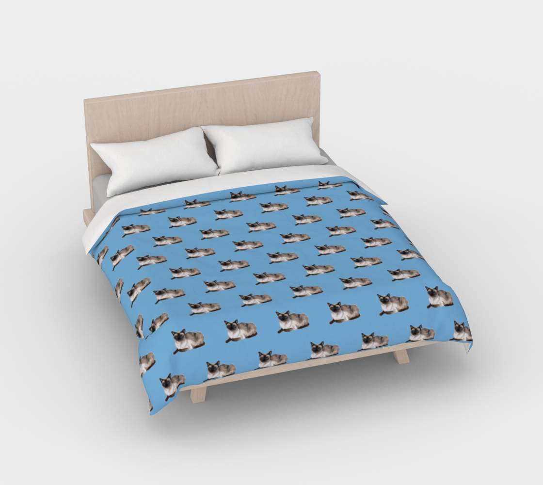 Siamese cat pattern Duvet Cover preview #2