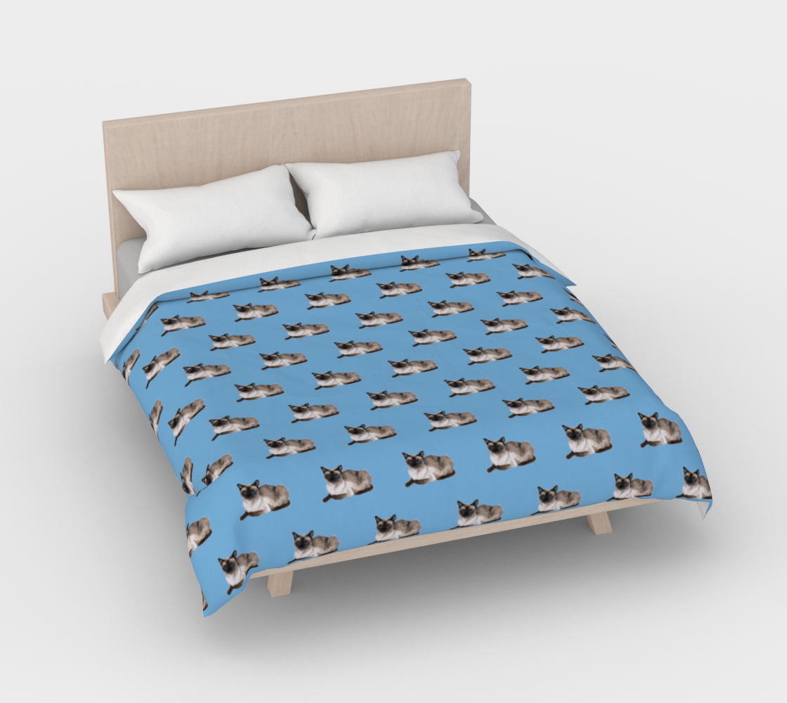 Siamese cat pattern Duvet Cover preview #3