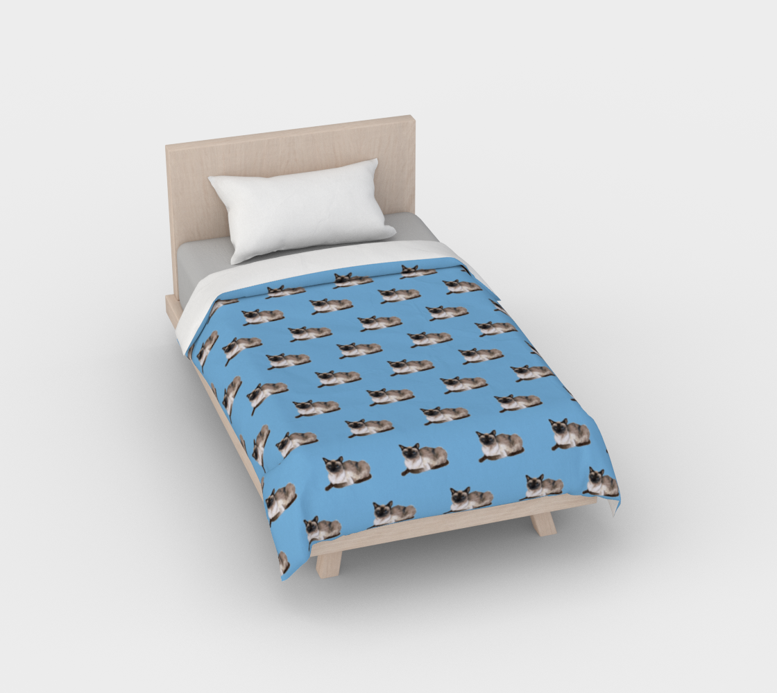 Siamese cat pattern Duvet Cover aperçu