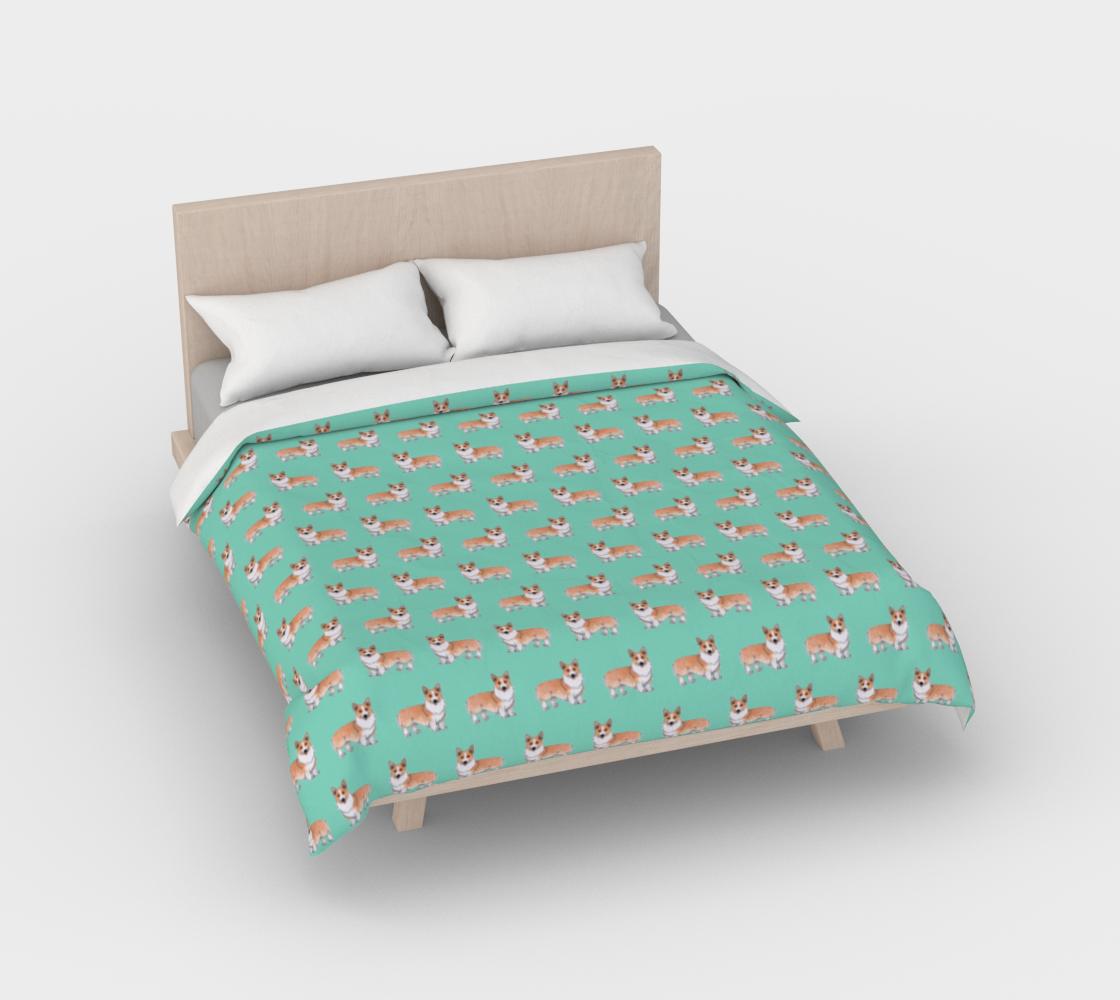 Welsh corgi dogs pattern Duvet Cover preview #2