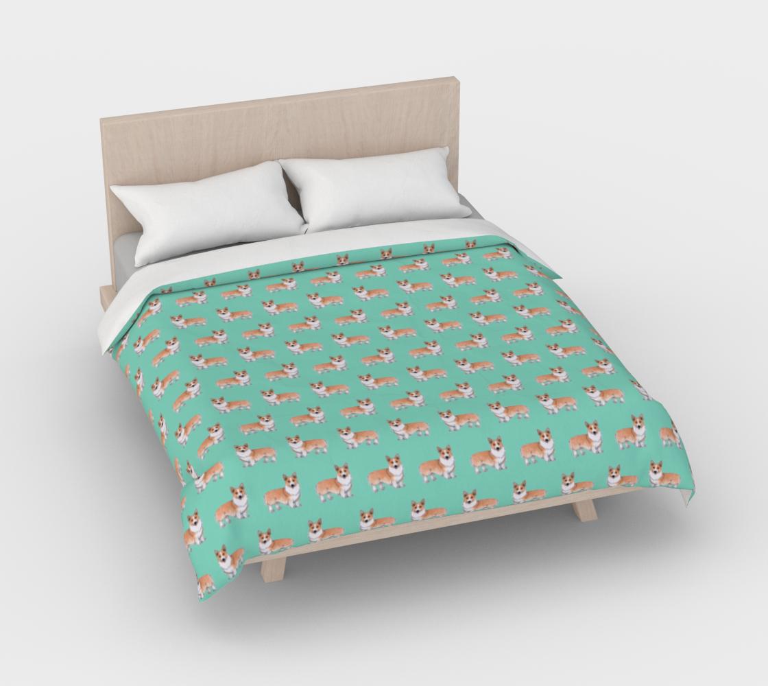Welsh corgi dogs pattern Duvet Cover preview #3
