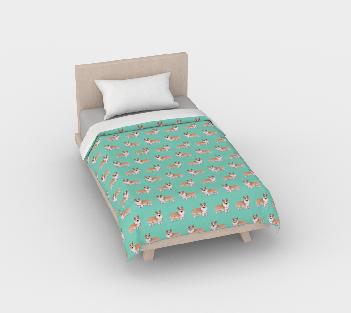 Welsh corgi dogs pattern Duvet Cover aperçu