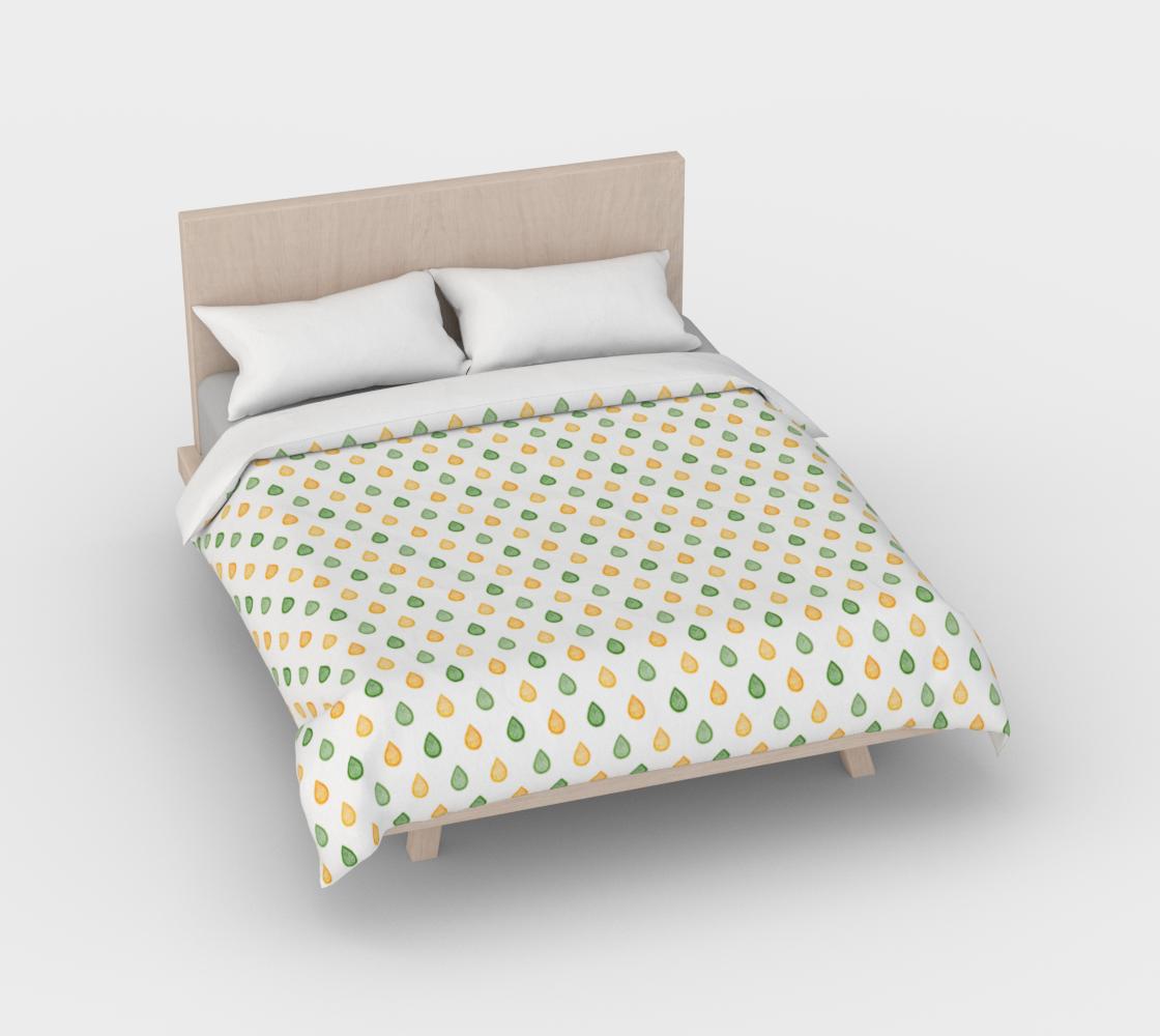 Aperçu de Yellow and green raindrops Duvet Cover #2