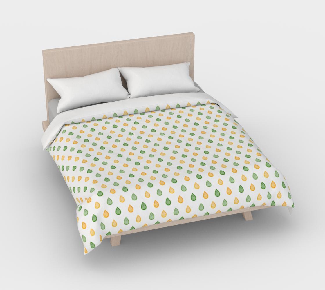 Aperçu de Yellow and green raindrops Duvet Cover #3