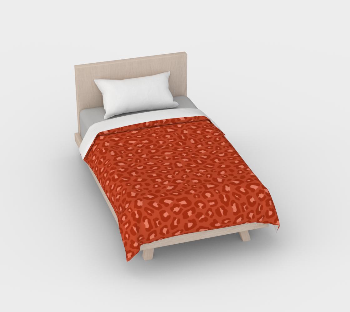 Leopard Print 2.0 - Rust Orange Duvet Cover aperçu